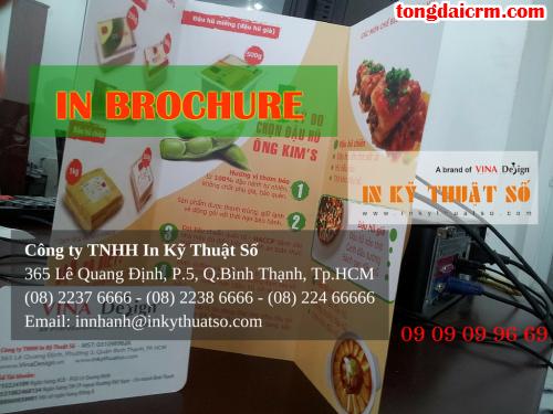 In brochure nhanh rẻ đẹp tại Bình Thạnh với Công ty TNHH In Kỹ Thuật Số - Digital Printing