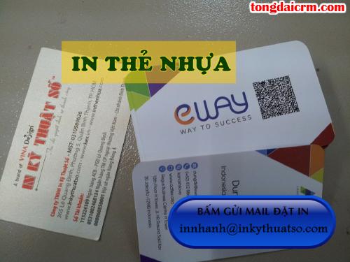 In thẻ nhựa trong suốt giá rẻ, lấy hàng nhanh tại Công ty TNHH In Kỹ Thuật Số - Digital Printing
